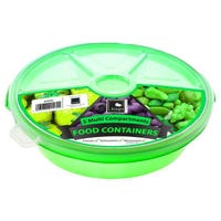 Round Food Server 5 Compartment Green