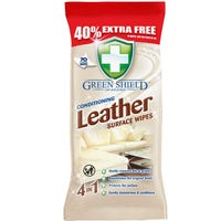 Green Shield Leather Surface Wipes 70 Pack