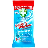 Green Shield Glass & Window Wipes 70 Pack