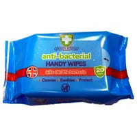 Green Shield Anti-Bacterial Handy Wipes 20 Pack
