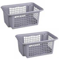 Plastic Stackable Basket Grey
