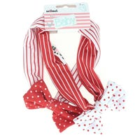 Scunci Baby Head wrap Red and White 2 Pack