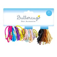 Colour Hair Bands Assorted 60 pack