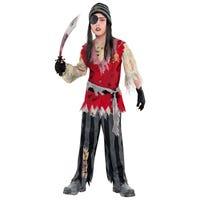 Halloween Children's Costume Cutthroat Pirate Corpse 12-14 Years