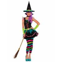Halloween Children's Costume Neon Witch 12-14 Years