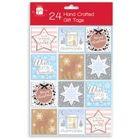 Christmas Hand Crafted Gift Tags 24 Pack