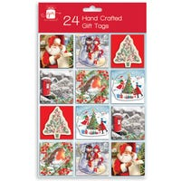 Christmas Hand Crafted Traditional Gift Tags 24 Pack