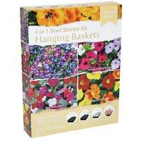 Hanging Baskets 4 In 1 Seed Starter Kit
