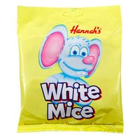 Hannah's Chocolate White Mice 200g