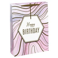 Happy Birthday Marble Gift Bag in Large