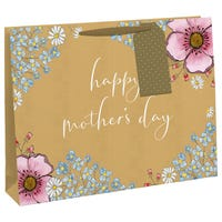 Happy Mothers Day Floral Shopper Gift Bag