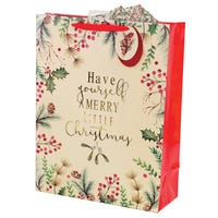 Christmas Foliage Medium Gift Bag