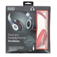 Dynabass Stereo Foldable Headphone Red