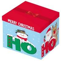 Christmas Ho Ho Ho Square Gift Box