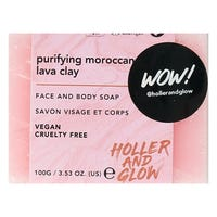 Holler and Glow Clay Face and Body Soap 100g