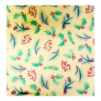 Christmas Traditional Holly Gift Wrap 4m