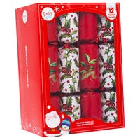 Tinsel Town Holly Peace and Joy Christmas Crackers 12 Pack