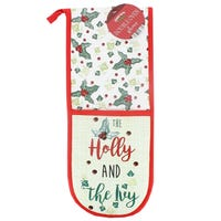 Christmas Double Oven Glove Holly