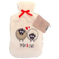 Country Club Hot Water Bottle with Plush Sheep Cover 2L