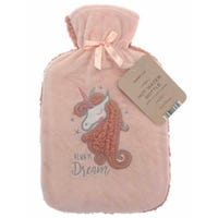 Country Club Hot Water Bottle with Plush Unicorn Cover 2L