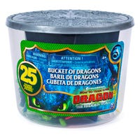 DreamWorks Dragons: Bucket of Dragon and Viking Figures 25 Pack