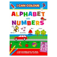 Early Learning Alphabet and Numbers Colouring Book