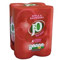 J20 Apple and Raspberry Can 250ml 4 Pack