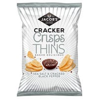Jacob's Cracker Crisp Thins Sea Salt and Pepper 130g
