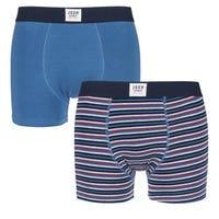 Jeep Men's Boxer Shorts Large Blue 2 Pack