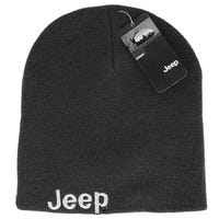 Jeep Mens Embroidered Beanie Grey