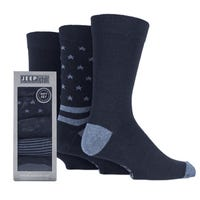 Jeep Men's Stars And Stripes Socks Blue Size 6-11 5 Pack