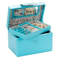 Mele and Co Faux Leather Jewellery Box in Blue