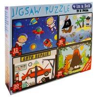 4 in 1 Boys Jigsaw Puzzle