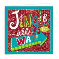 Handcrafted Jingle All The Way Christmas Cards 6 Pack