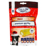 One-A-Day Christmas Jumbo Turkey Sticks 6 Pack