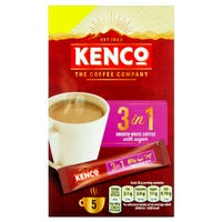 Kenco 3 in 1 Coffee 5 Pack