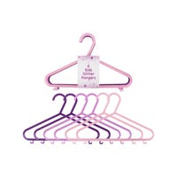 Children's Glitter Coat Hangers 6 Pack