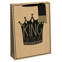 King For The Day Large Gift Bag
