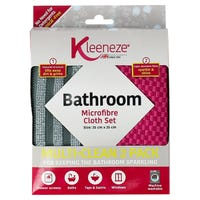 Kleeneze Microfibre Bathroom Cloths 2 Pack
