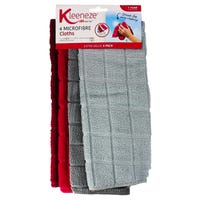 Kleeneze Microfibre Cleaning Cloths 4 Pack