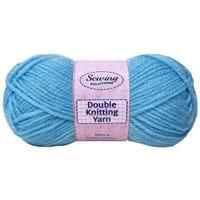 Double Knitting Yarn Light Blue 240m