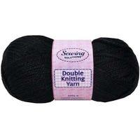 Double Knitting Yarn Black 240m