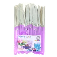 Duet Elegance Knifes Purple And Silver 20 Pack