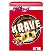 Kellogg's Krave Chocolate Hazelnut Cereal 375g