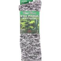 Ladies Wellington Boot Sock Assorted Colours