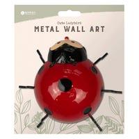 Metal Ladybird Wall Decoration