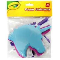 Crayola Foam Unicorns 20 Pieces