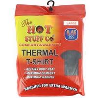 Men's Thermal Black T Shirt Large