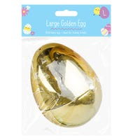 Large Golden Refillable Easter Egg
