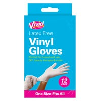 Vinyl Gloves Latex Free 12 Pack